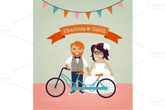 Hipster Wedding Invitation