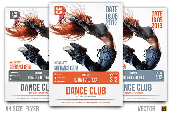Dance Club Event Flyer