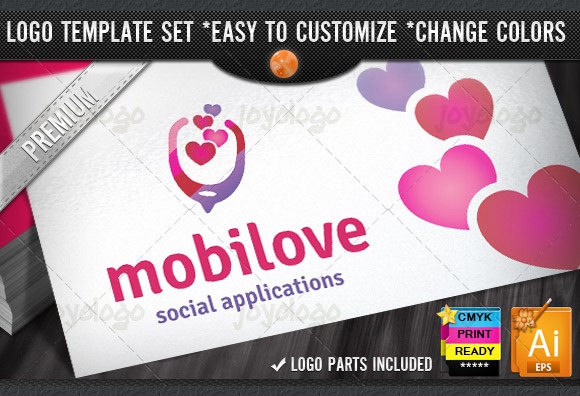Social Chat Love App Mobile Logo
