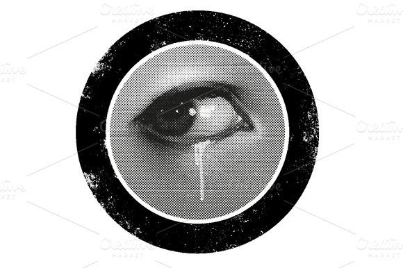Halftone Eye Vector
