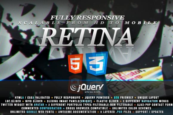 Retina Responsive HTML5 Theme