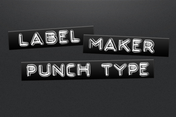 Label Maker Punch Type