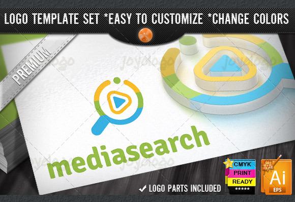 Music Play Media Video Search Logo