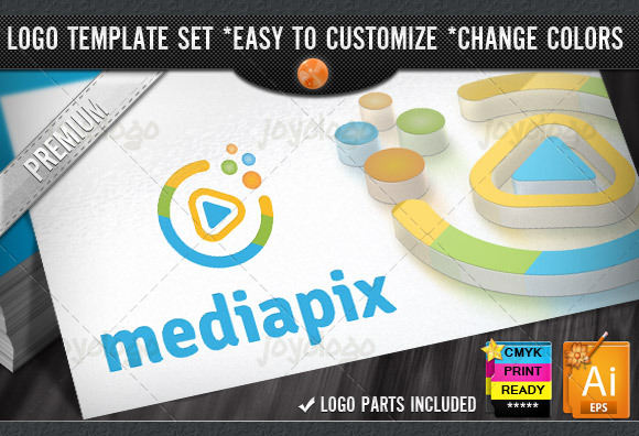 Music Video Circle Play Media Logo