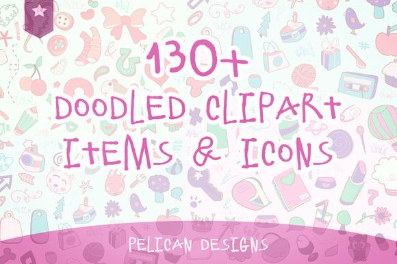 Cute Doodle Clip Art Pack