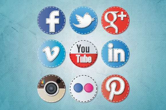 Social Media Icons Seam