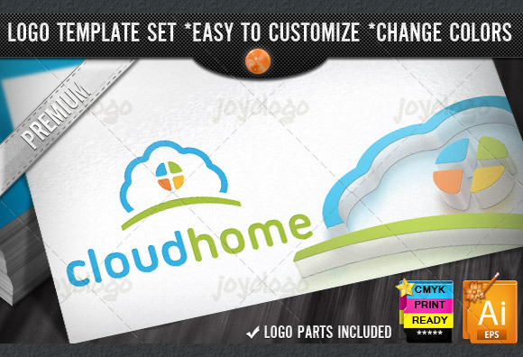 App Builder Home Cloud Logo Template