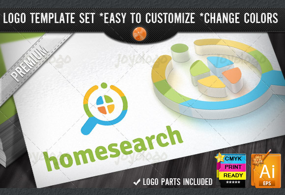 House Finder Home Search Logo Design