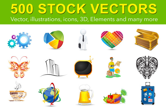 500 Stock Vectors