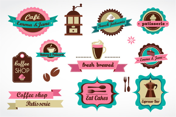 Restaurant And Coffee Shops Labels