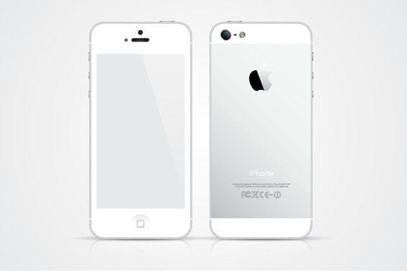 White IPhone 5 Vector Illustration