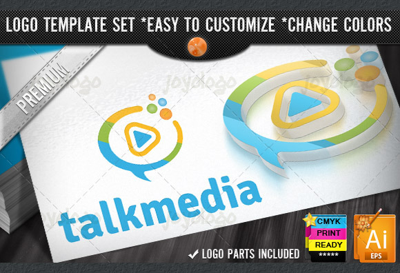 Chat Bubbles Play Talk Media Logo
