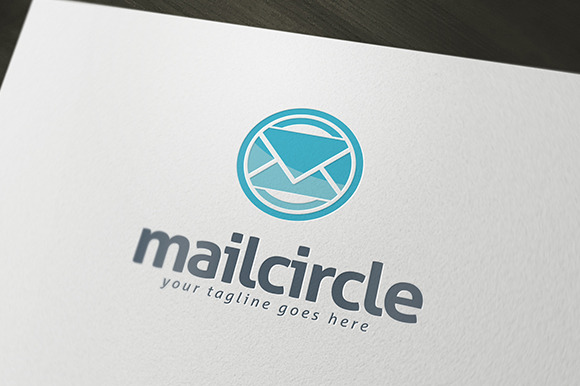Mail Circle Logo Template