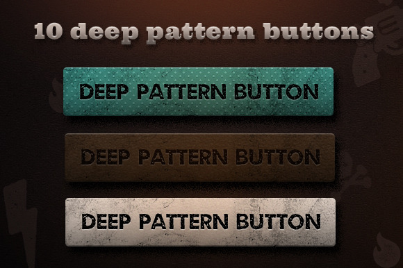 10 Deep Pattern Buttons