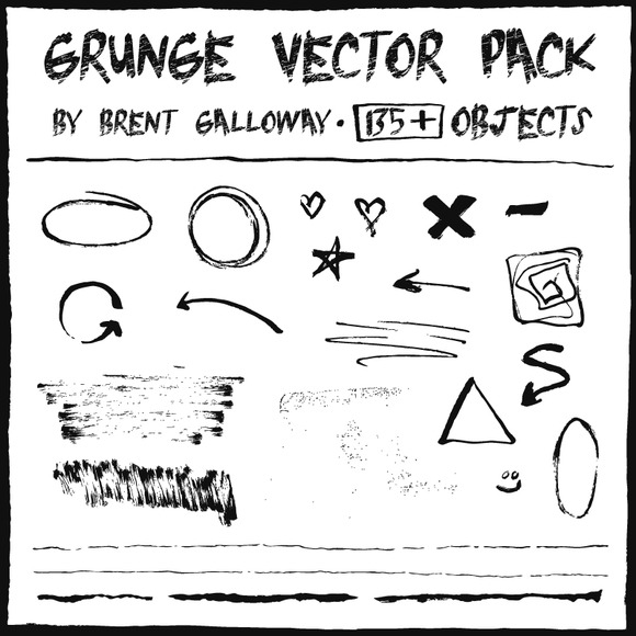Hand Drawn Grunge Vector Pack