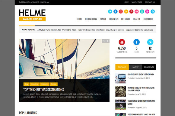 Helme Magazine WordPress Theme