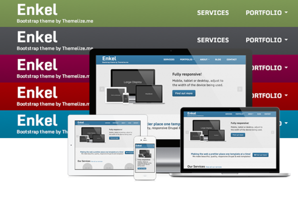 Enkel Responsive HTML Template