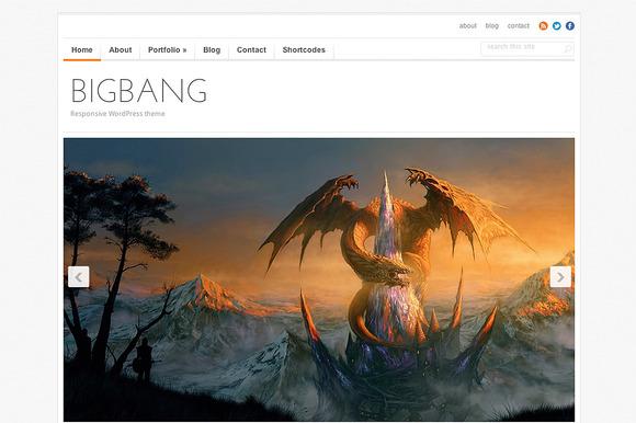 BigBang Responsive Portfolio Theme