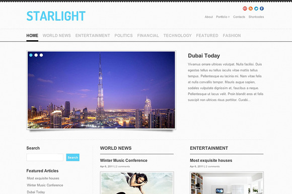 StarLight Responsive Theme