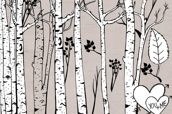 Birch Tree ClipArt Photoshop Brush