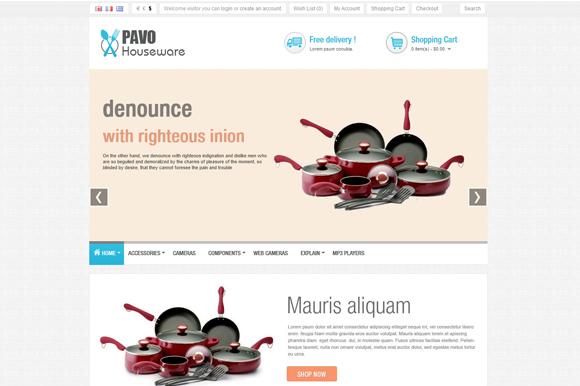 Pav Houseware Opencart Theme