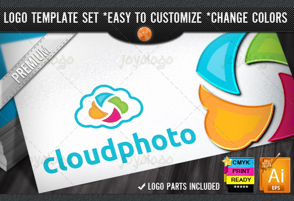 Photography Storage Photo Cloud Logo