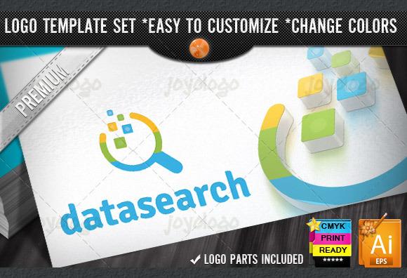 Circuits Data Search Logo Template