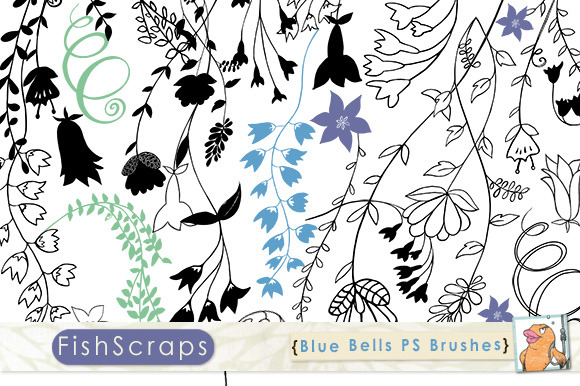 Blue Bell PS Brushes Clip Art