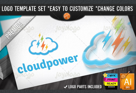 Digital Pixel Flash Power Cloud Logo