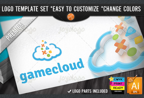 Digital Game Cloud Logo Template