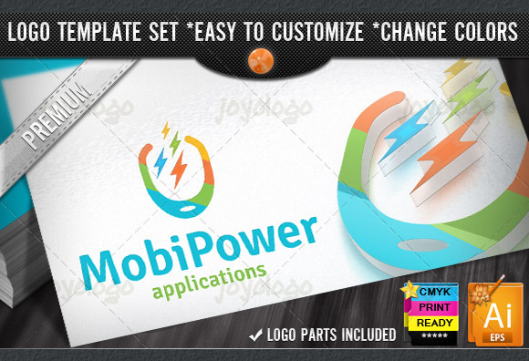 Digital Pixel Power Mobile Logo