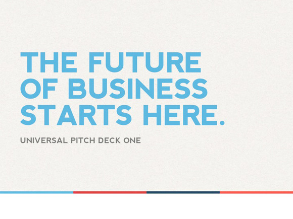 Universal Pitch Deck One Keynote