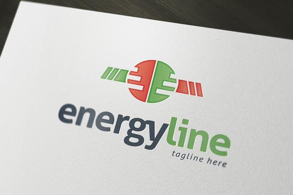 Energy Line Logo Template