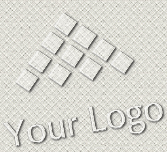 Logo Mock-ups Glass Style