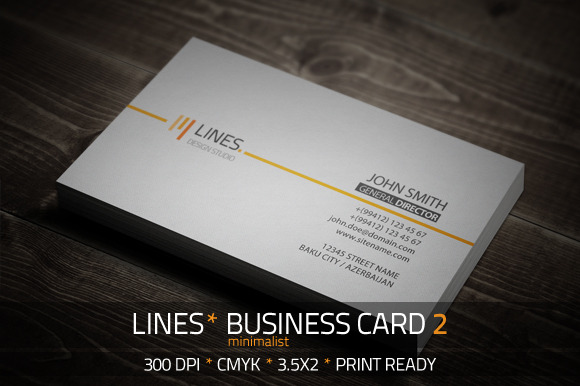 Lines Minimalist Business Card 2
