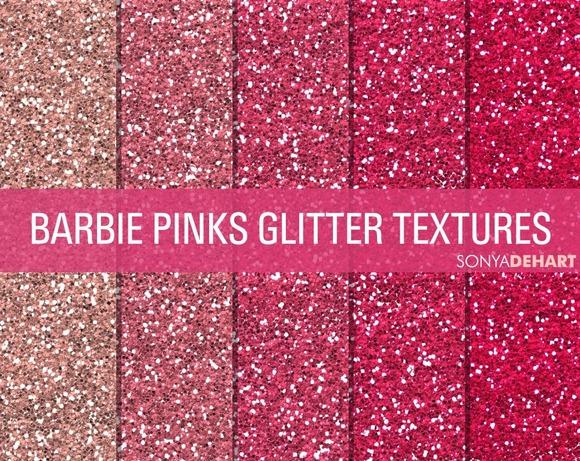 Barbie Pinks Glitter Textures