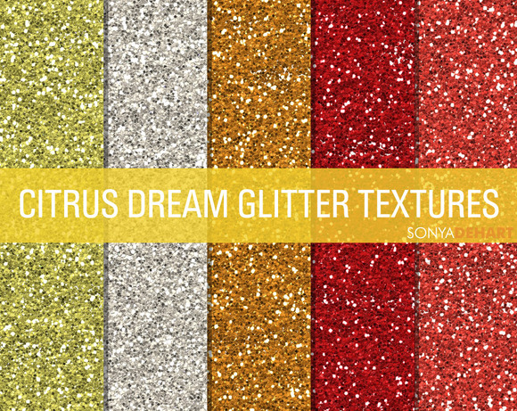 Citrus Dream Glitter Textures
