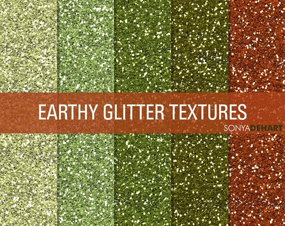 Earthy Glitter Textures