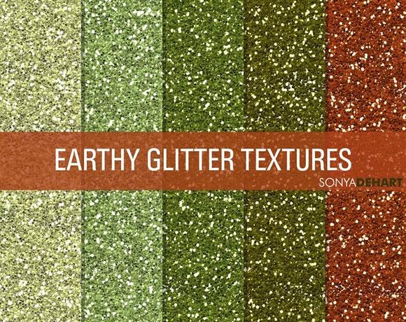 Earthy Glitter Textures