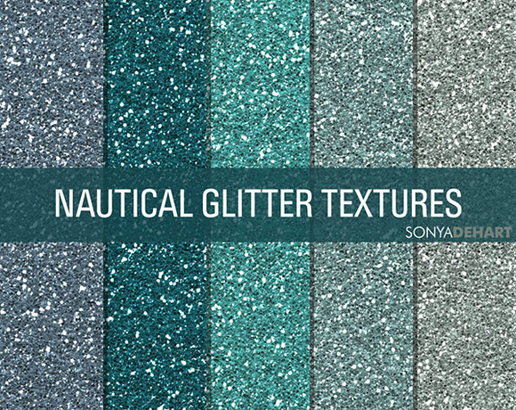 Nautical Glitter Textures