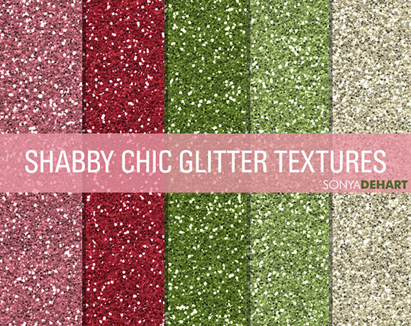 Shabby Chic Glitter Textures