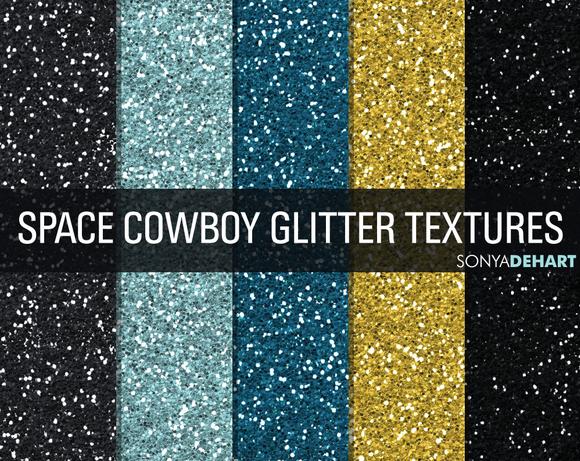 Space Cowboy Glitter Textures