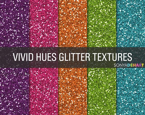 Vivid Hues Glitter Textures