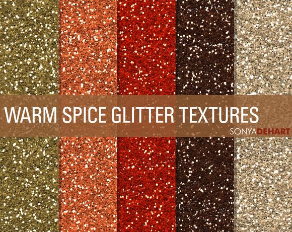 Warm Spice Glitter Textures