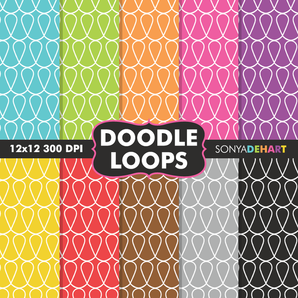 Doodle Loops Digital Papers