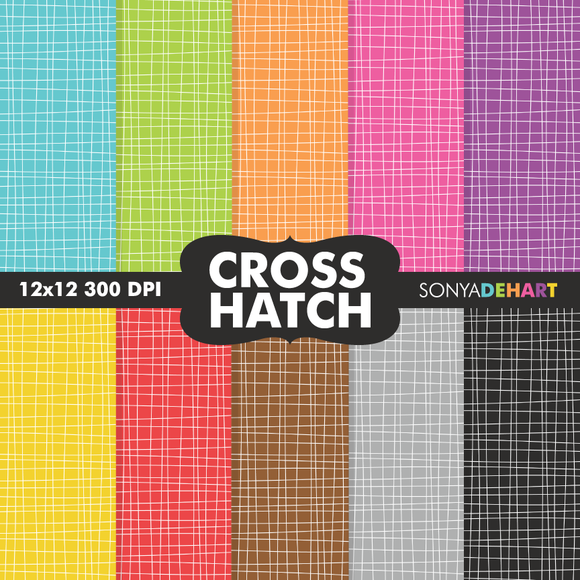 Crosshatch Digital Paper Patterns