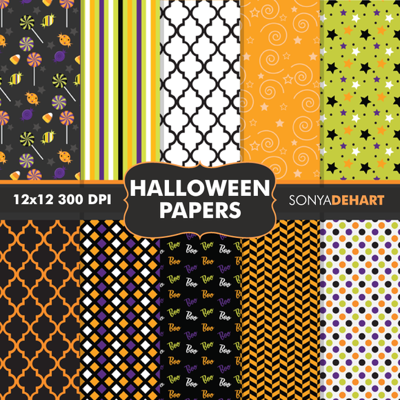 Halloween Digital Paper Patterns