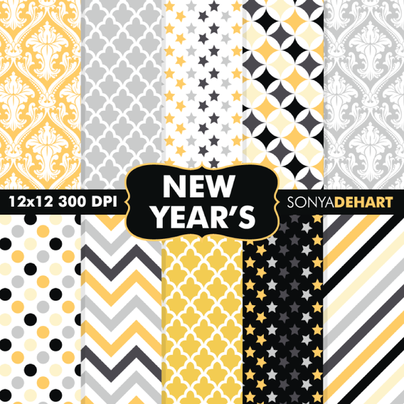 New Year S Eve Digital Papers