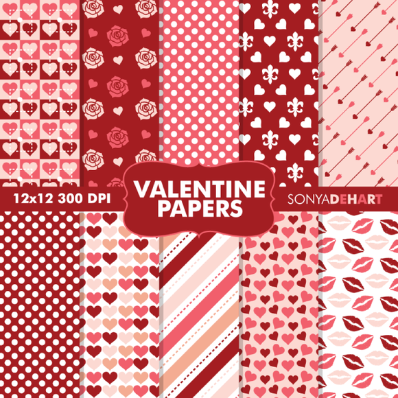 Valentine S Day Digital Papers