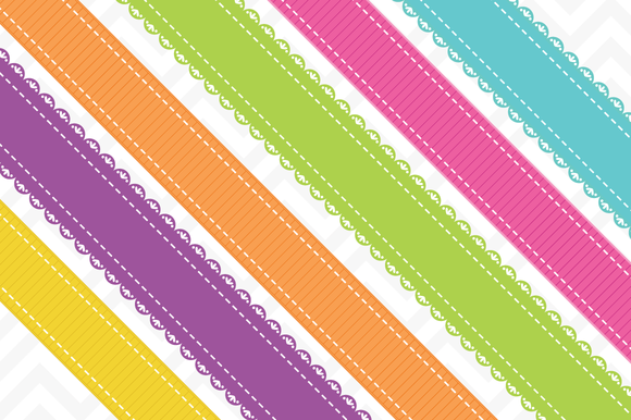 Clip Art Realistic Ribbons Vector